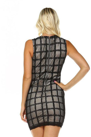 Image of Women's V-neck Cut Out Dress
