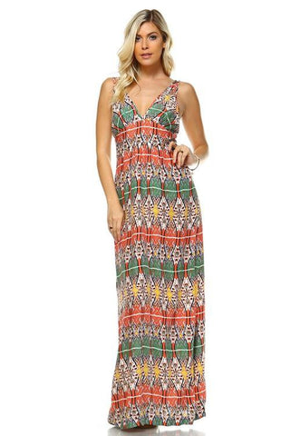 Image of Women's Printed Maxi Dress