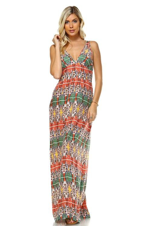 Women's Printed Maxi Dress