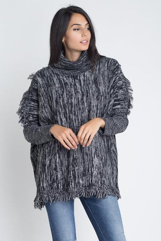 Image of Women's Turtle Neck Tassel Sweater