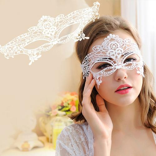Masquerade Lace Mask Catwoman Halloween Black - LoveLuve