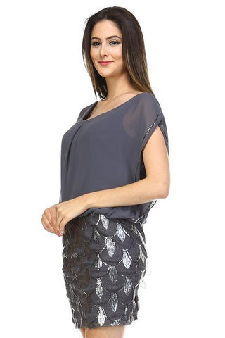 Women's Sequin Chiffon Dress