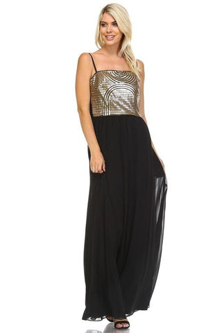 Image of Women's Sequin Chiffon Dress