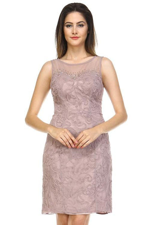 Women's Embroidered Textured Dress