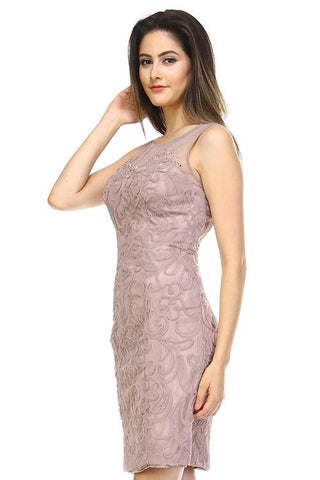 Image of Women's Embroidered Textured Dress