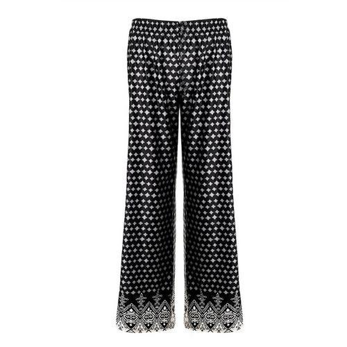 Fashion Women Dots Embroidery Leggings Black - LoveLuve