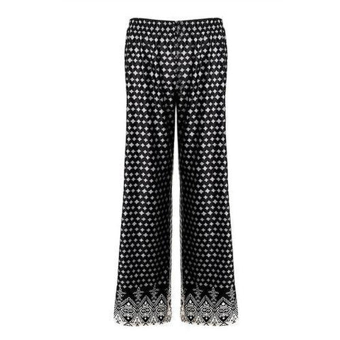 Image of Fashion Women Dots Embroidery Leggings Black - LoveLuve