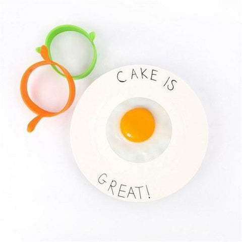 Image of Silicone Round Egg Rings Mold Nonstick Frying - LoveLuve