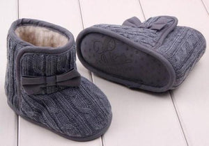 Snow Boots Baby Hook Loop Baby Bowknot Soft Sole
