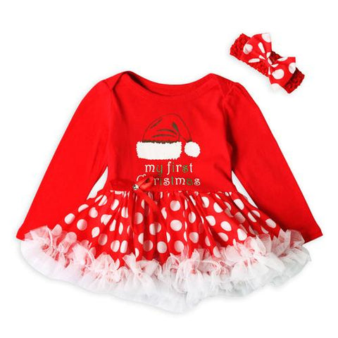 Image of Toddler Newborn Baby Girls dress Princess Letter