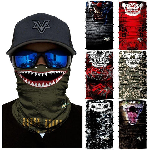 Image of 3D Cool Robot Skull Halloween Mask Scarf Joker Headband Balaclavas for Cycling Fishing Ski Motorcycle FACE MASK - LoveLuve