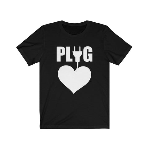 Image of Epic Tees Plug Funny Couples Matching Shirts Tee (Woman Shirts) - LoveLuve