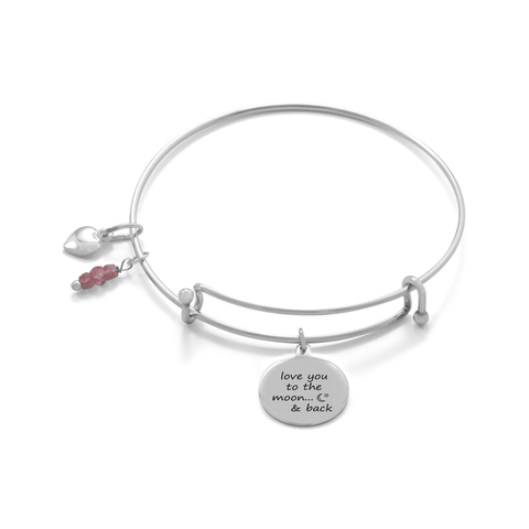 "Image of ""Love You To The Moon And Back"" Bangle - LoveLuve"