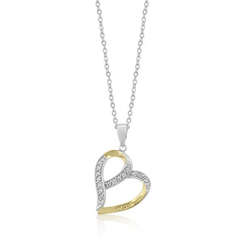 Mom Two-tone Finish Fashion Pendant - LoveLuve