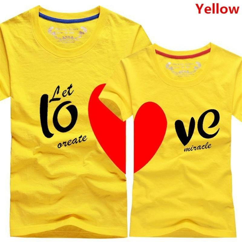 New Sweet Couples Heart Matching T-Shirt Shirts for Couples Newlyweds I Love You - LoveLuve