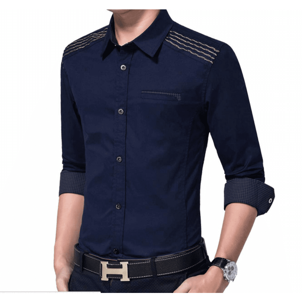 Mens Shirt with Layered Shoulder Details - LoveLuve