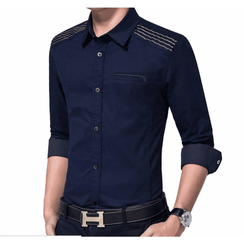 Image of Mens Shirt with Layered Shoulder Details - LoveLuve