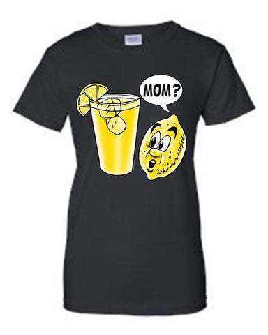 Image of Juniors Funny Lemon Kid: Mom? T-shirt - LoveLuve