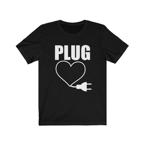 Image of Epic Tees Plug Funny Couples Matching Shirts Tee - LoveLuve