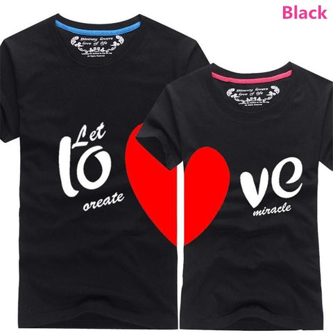 Image of New Sweet Couples Heart Matching T-Shirt Shirts for Couples Newlyweds I Love You - LoveLuve