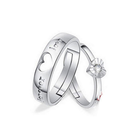 Couples Matching Adjustable Love Ring Couple Lovers - LoveLuve