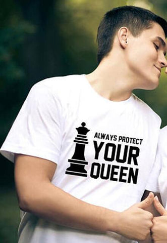 Image of Your Queen & Your King New Couple Match Tees - LoveLuve