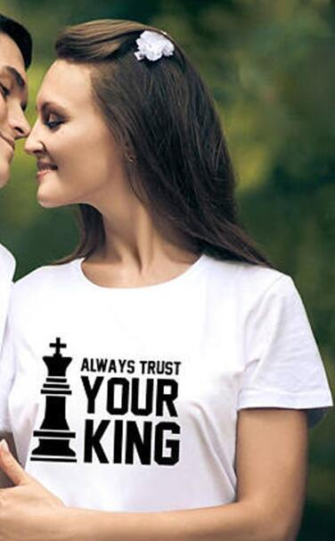 Your Queen & Your King New Couple Match Tees - LoveLuve