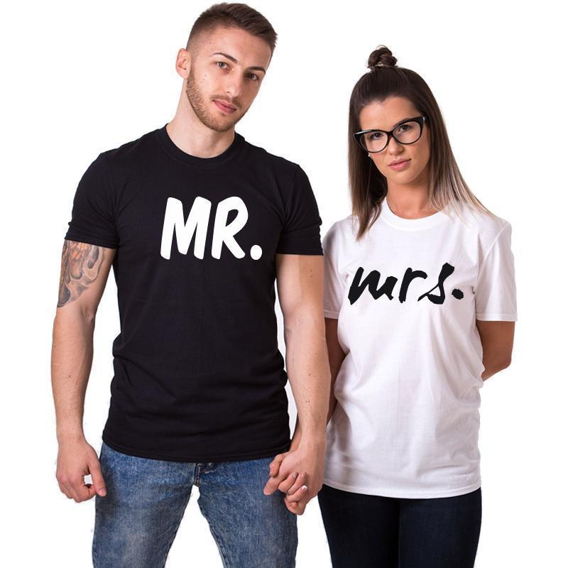 Mr. & Mrs. Couple T Shirts - LoveLuve