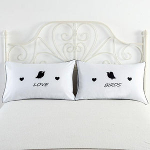 I Love My Wifey & I Love My Hubby Couples Pillow Covers