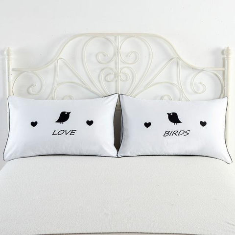 Image of I Love My Wifey & I Love My Hubby Couples Pillow Covers - LoveLuve