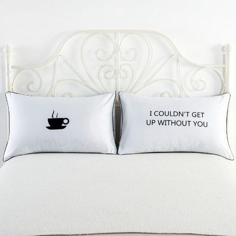 I Love My Wifey & I Love My Hubby Couples Pillow Covers - LoveLuve