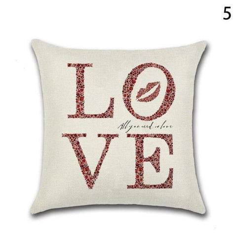 Image of Love Printed Cushion Decorative Case For Sofa - LoveLuve