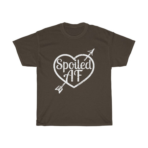 Image of Spoiled AF Unisex Heavy Cotton Tee Shirt - LoveLuve