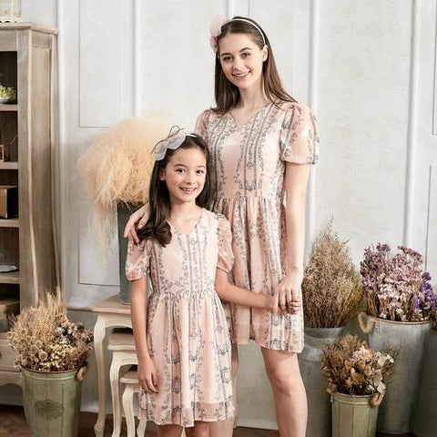 Image of (Set of 2) Floral Fit & Flare Dress - LoveLuve