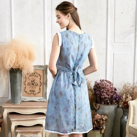 Blue Floral Dress (woman) - LoveLuve