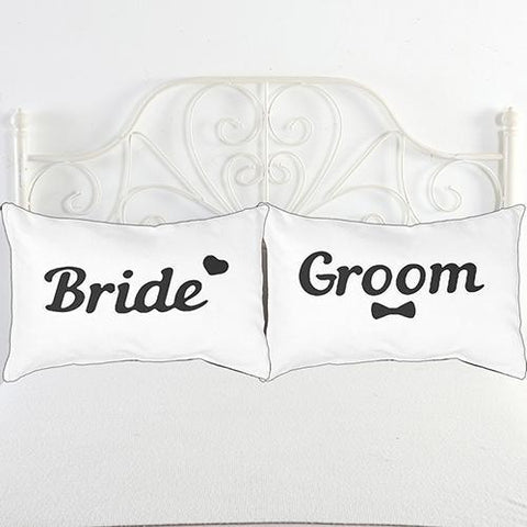 Image of Black + White Letters Couple Bedding Decorative Pillowcase - LoveLuve