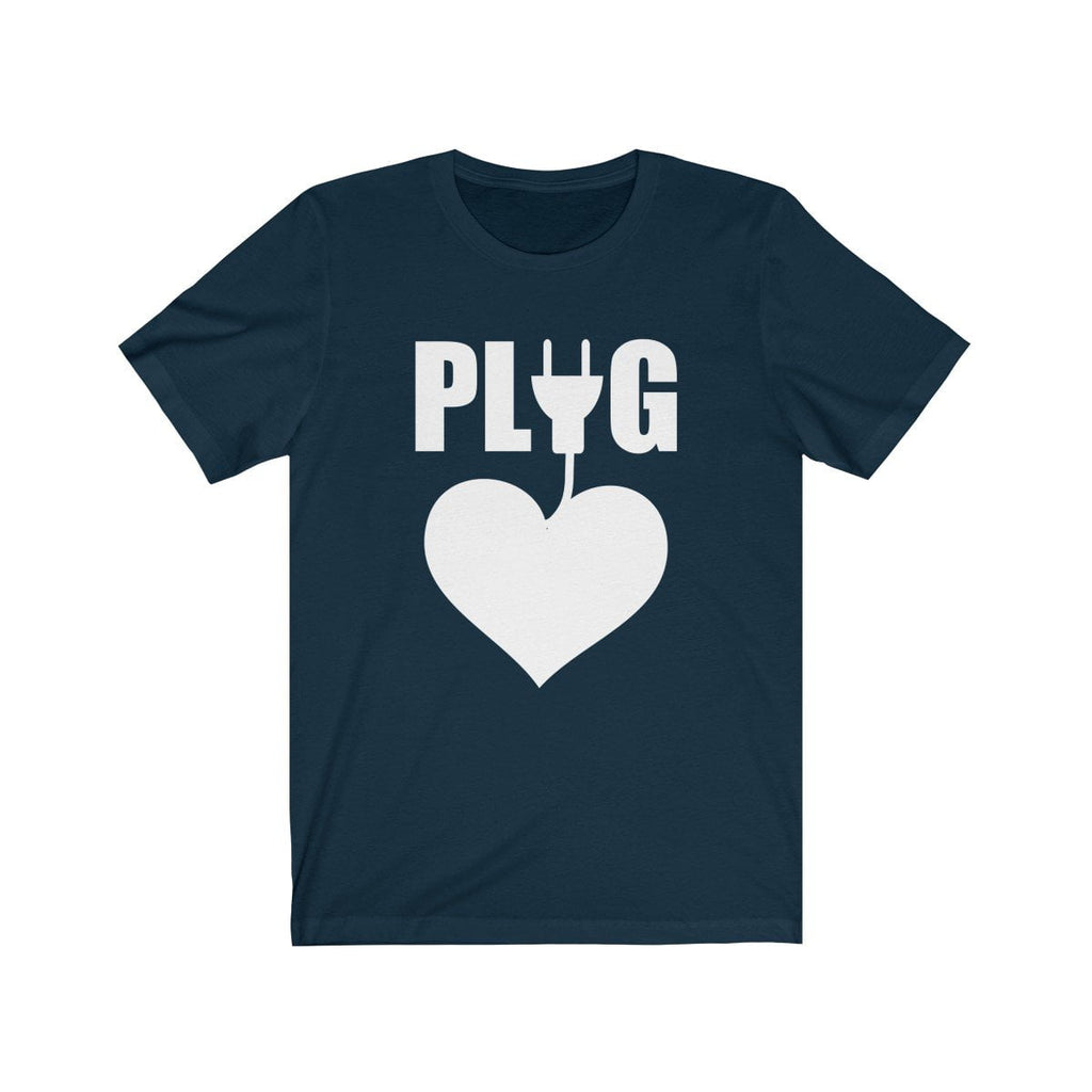 Epic Tees Plug Funny Couples Matching Shirts Tee (Woman Shirts) - LoveLuve