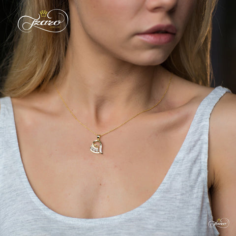 Elegant Mother Necklace, 925 Silver, 14K Gold Plated Pearl Mom Necklace - LoveLuve