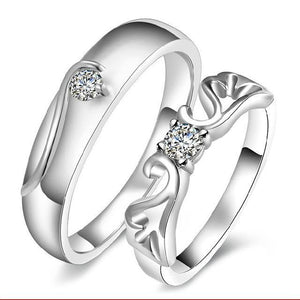 Exquisite Mosaic Crystal Engagement Couple Rings