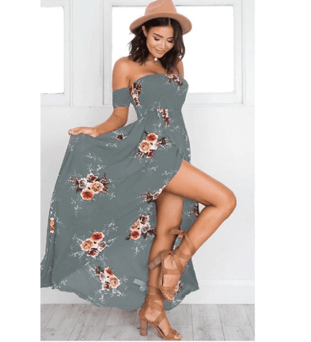 Image of Off Shoulder Beach Autumn Dresses - LoveLuve