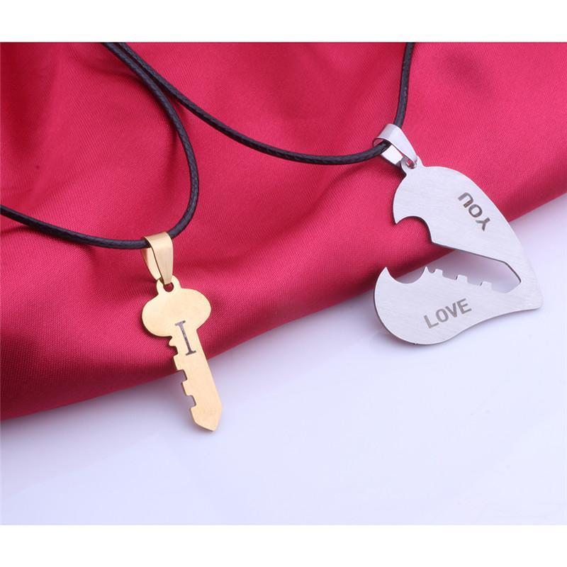 "Matching Couple ""I Love You"" Heart Necklace - LoveLuve"