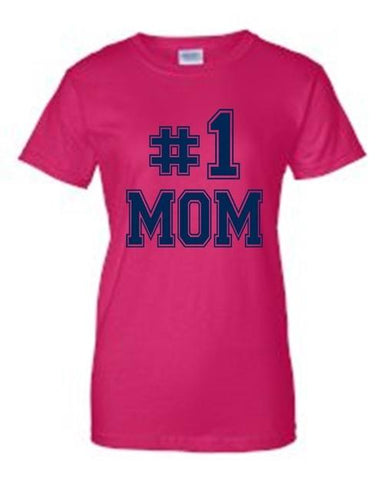 "Image of Juniors Everybody Knows I'm The ""#1 MOM"" T-shirt - LoveLuve"