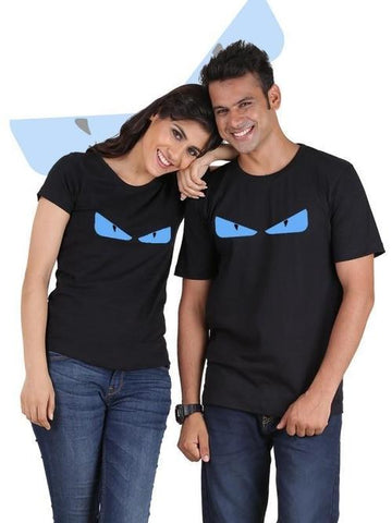 Image of Devil Eyes Couple T-Shirts - LoveLuve