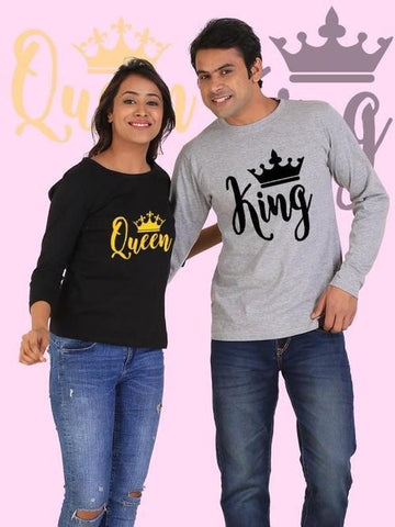 King and Queen Couple Full Sleeves - LoveLuve