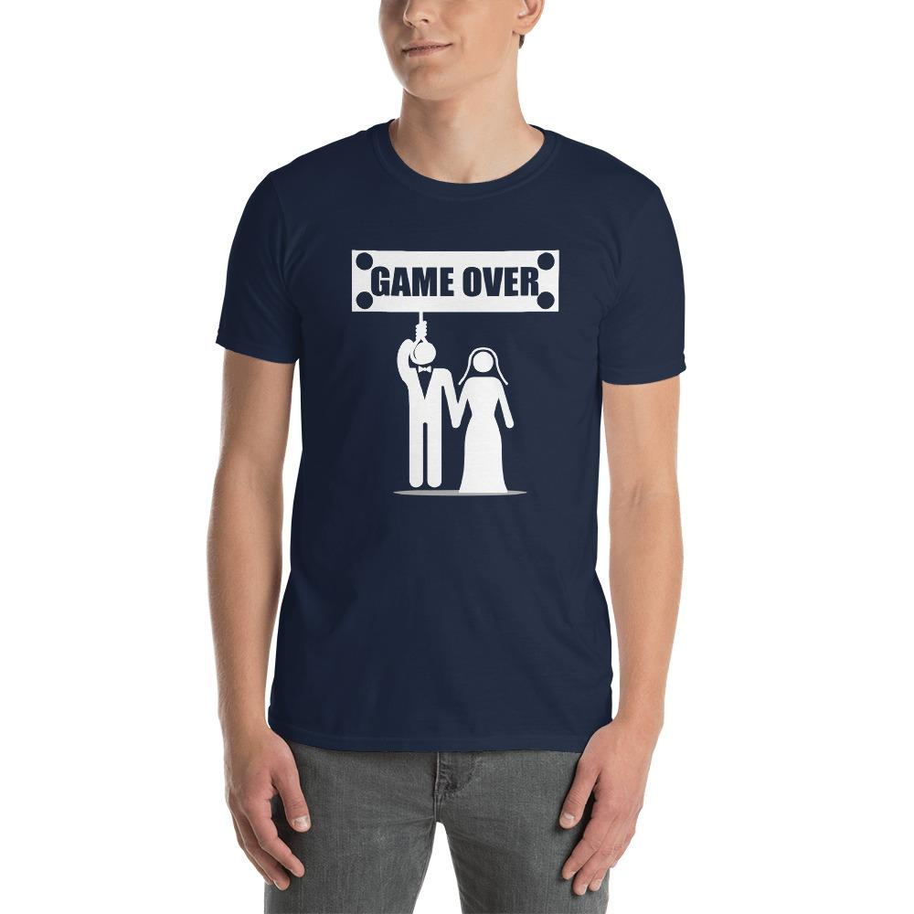 Game Over Marriage Funny - Couples Men's T-Shirt - LoveLuve
