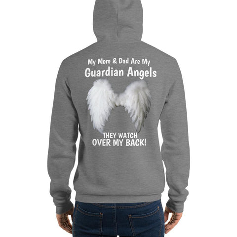 Image of My Mom & Dad Are My Guardian Angels Unisex Hoodie - LoveLuve