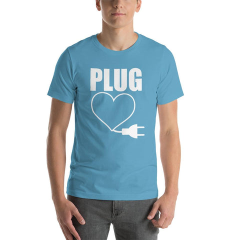 Image of PLUG Couples Matching Short-Sleeve Unisex Funny T-Shirt - LoveLuve