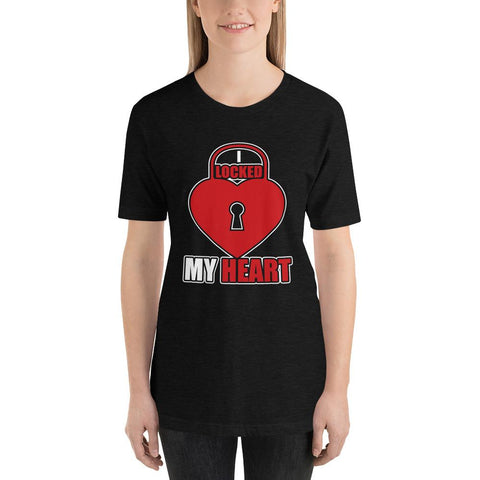 Image of I Locked My Heart Funny Short-Sleeve T-Shirt - LoveLuve