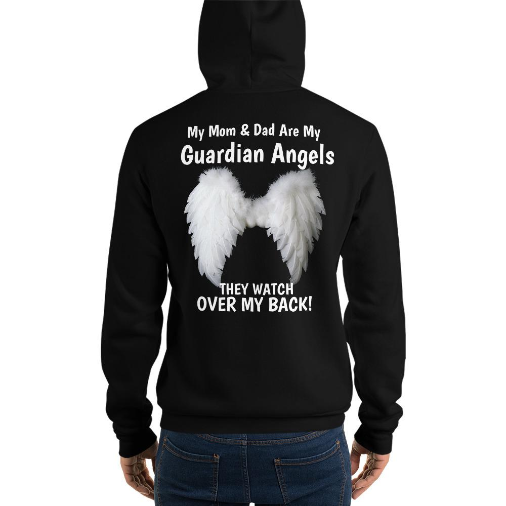 My Mom & Dad Are My Guardian Angels Unisex Hoodie - LoveLuve