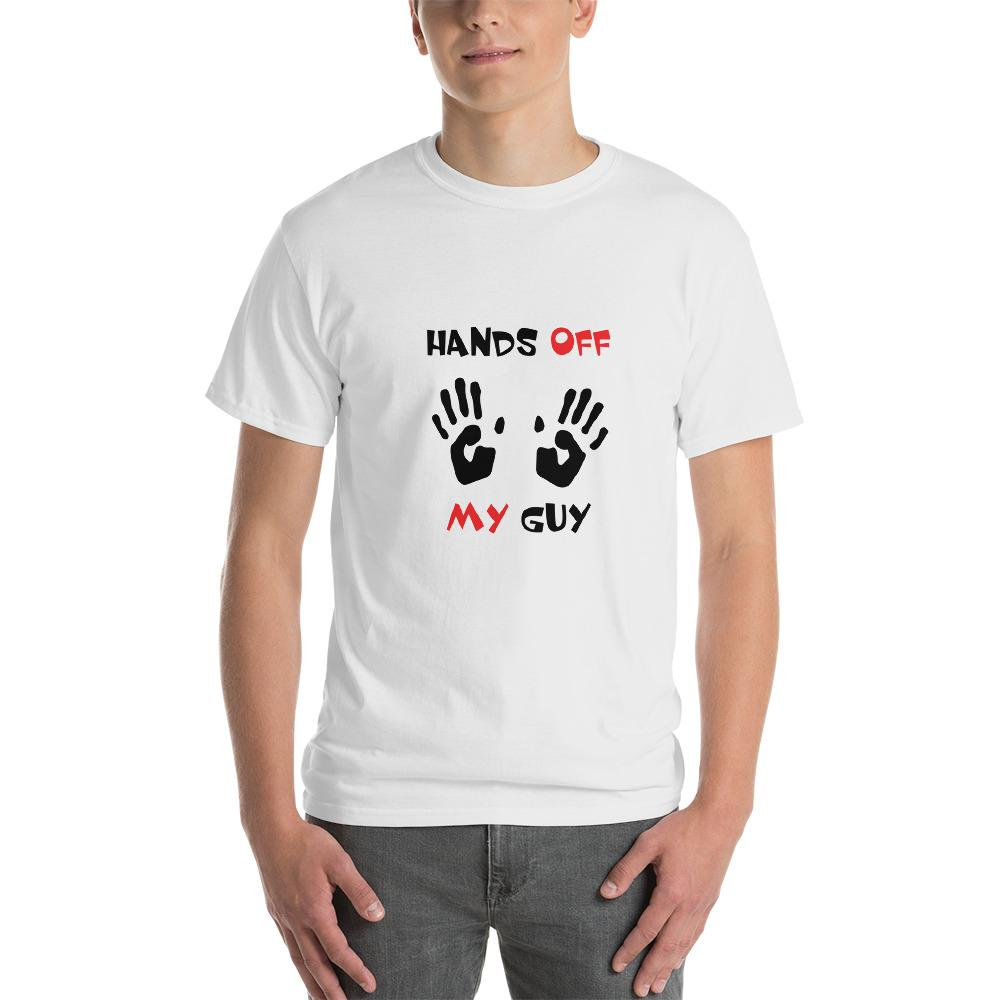 Hands Off My Guy Funny Short-Sleeve T-Shirt - Buy Now. - LoveLuve